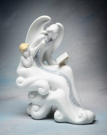 Story Telling Angel Porcelain Figurine Sculpture