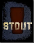 Stout Beer Wrapped Canvas Giclee Print Wall Art