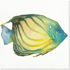 Striped Fish Wrapped Canvas Giclee Print Wall Art