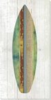 Striped Surfboard Wrapped Canvas Giclee Print Wall Art
