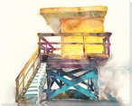 Structure on the Beach Wrapped Canvas Giclee Art Print Wall Art