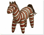 Stuffed Horse Wrapped Canvas Giclee Print Wall Art