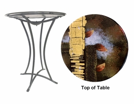Styles of Color Fused Glass Metal Table