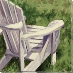 Summer Seat Wood Chair Wrapped Canvas Giclee Print Wall Art