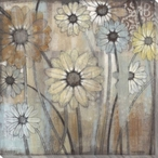 Sun Bleached Daisy Flowers Wrapped Canvas Giclee Print Wall Art