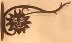 Sun Face Metal Wall Plant Hanger