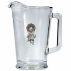 Sun Kachina Glass Pitcher with Pewter Accent