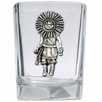 Sun Kachina Pewter Accent Shot Glasses, Set of 4
