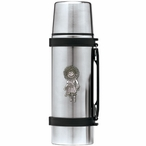 Sun Kachina Stainless Steel Thermos with Pewter Accent