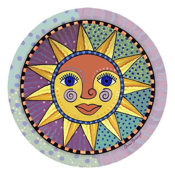 Sunburst absorbent round beverage coasters by chris bubany set of 12 drink coasters - Drink coasters absorbent ...