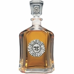 Sunface Capitol Glass Decanter with Pewter Accents