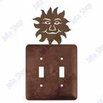 Sunface Double Toggle Metal Switch Plate Cover