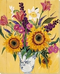 Sunflower Bouquet I Wrapped Canvas Giclee Print Wall Art