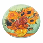 Sunflowers Glass Paperweight by Van Gogh
