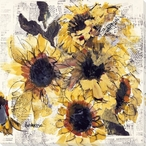 Sunflowers Wrapped Canvas Giclee Print Wall Art