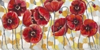 Sunglow Poppy Flowers Wrapped Canvas Giclee Print Wall Art