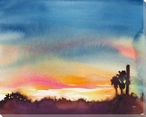 Sunset Wrapped Canvas Giclee Print Wall Art