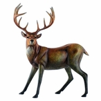 Suspense Bisque Whitetail Deer Imago High Gloss Sculpture