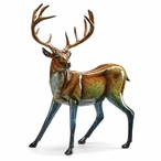Suspense Whitetail Deer Imago High Gloss Sculpture