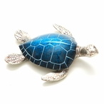 Swimming Blue Turtle Statues, Set of 2