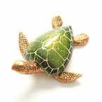 Swimming Green Turtle Statues, Set of 4