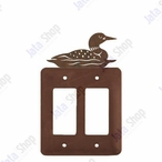 Swimming Loon Double Rocker Metal Switch Plate Cover