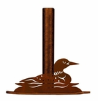 Swimming Loon Metal Paper Towel Holder