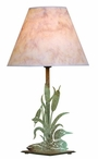 Swimming Loon Metal Table Lamp with Shade