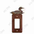 Swimming Loon Single Rocker Metal Switch Plate Cover