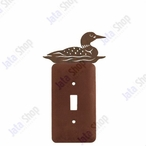 Swimming Loon Single Toggle Metal Switch Plate Cover