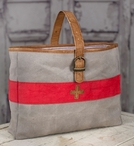 Swiss Army Carry All Stonewashed Canvas and Soft Leather Tote Bag