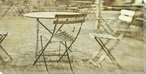 Table and Chairs Wrapped Canvas Giclee Print Wall Art