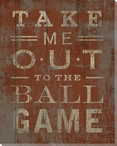 """""""Take Me Out to the Ball Game"""" Wrapped Canvas Giclee Print"""