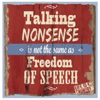 Talking Nonsense Beverage Coasters by Life Is Country, Set of 12