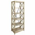 Tall Brookline MDF and Metal Etagere