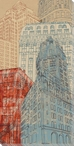 Tall Buildings Cityscape I Wrapped Canvas Giclee Print Wall Art