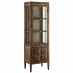 Tall Grand Junction Fir MDF and Glass Cabinet