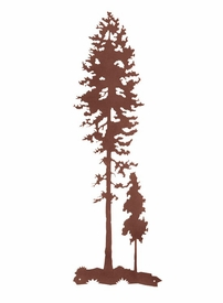 "Tall Metal Wall Art Fascinating 41"" Tall Lodge Poles Tree Metal Wall Art  Nature Wall Decor Design Ideas"