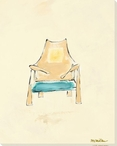 Tan Back Chair Wrapped Canvas Giclee Print Wall Art
