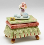 Tea Side Table Musical Music Box Sculpture