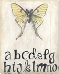 Teaching Aids Alphabet Butterfly Wrapped Canvas Giclee Print Wall Art