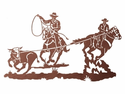41 Quot Team Cowboy Ropers Metal Wall Art Western Wall Decor