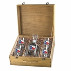 Texas Flag Capitol Decanter & DOF Glasses Box Set with Pewter Accents