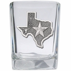 State of Texas Pewter Accent Shot Glasses, Set of 4