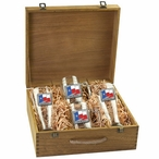 Texas Flag Pilsner Glasses & Beer Mugs Box Set with Pewter Accents