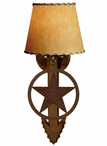 Texas Star Arrow Metal Wall Sconce with Shade