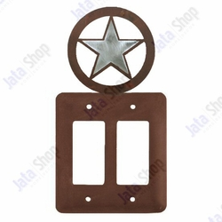 Texas Star Double Rocker Metal Switch Plate Cover