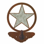 Burnished Texas Star Metal Robe Hook