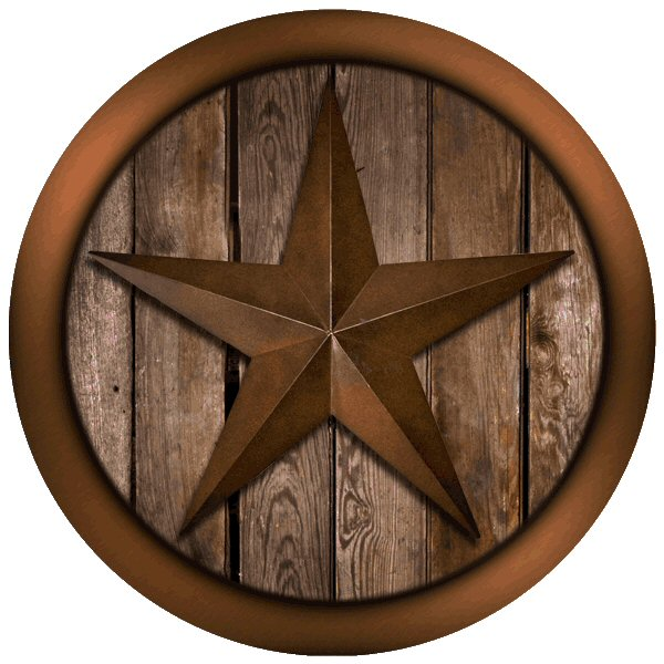 Texas star on barnwood absorbent round beverage coasters set of 12 drink coasters thirstystone - Drink coasters absorbent ...