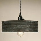 Textured Grey Sifter Hanging Pendant Lamp Light